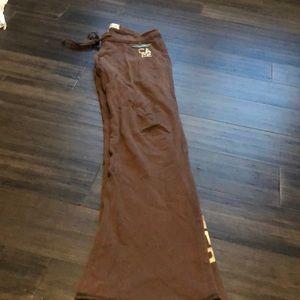 Light weight brown Hollister sweatpants